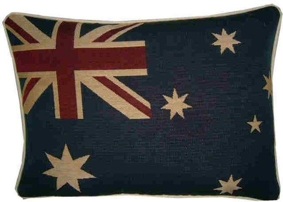 Australian Australia Flag Woven Tapestry Cushion