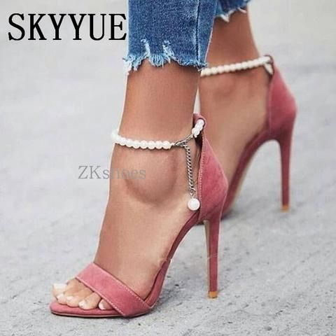 07c98d3d99532 Pearl HIgh Heel Sandals Shoes | Shoes in 2019 | Shoes, Heels, Shoe boots