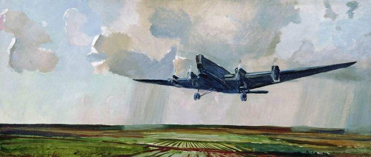 """A.A. Deineka, """"Bombovoz,"""" 1932"""