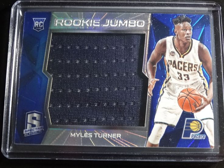 2015-16 Panini Spectra #21 Myles Turner Indiana Pacers Jersey Patch 32/49 Card #IndianaPacers