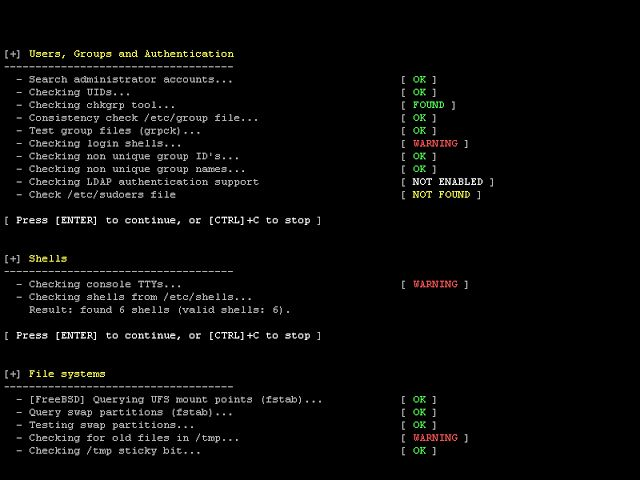 Lynis 2.5.9 - Security Auditing Tool for Unix/Linux Systems