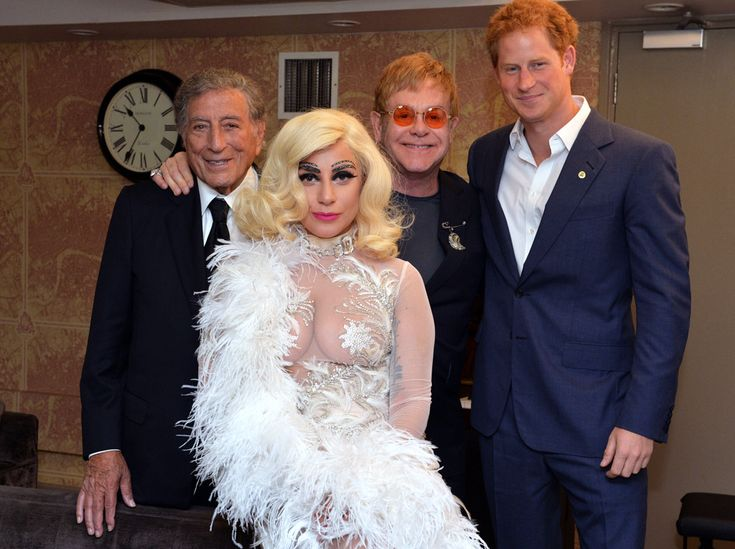 Tony Bennett, Lady Gaga, Elton John & Prince Harry from Stars Meeting Royals | E! Online