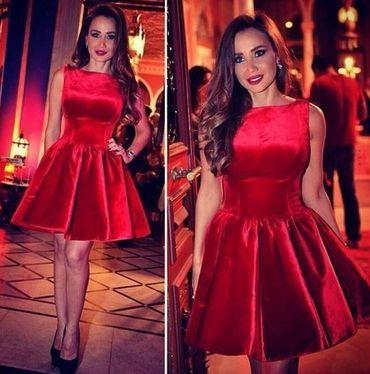 Short prom dress,Sleeveless prom dress,Red Homecoming Dresses,Satin Homecoming Dress,Party Dress