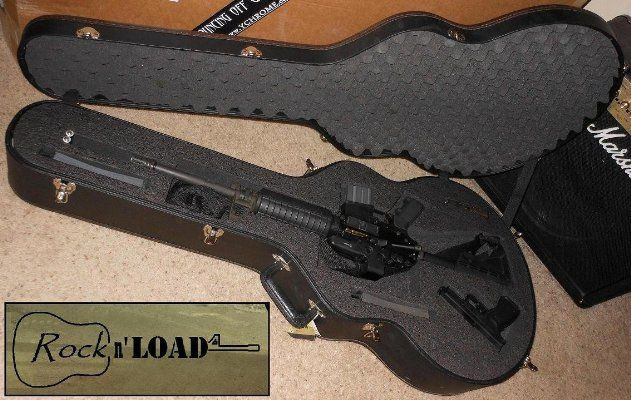 Rock n' Load AR15 Rifle & Pistol Guitar Shaped Case. There are gun guys who have thought about this, and gun guys who lie about it.