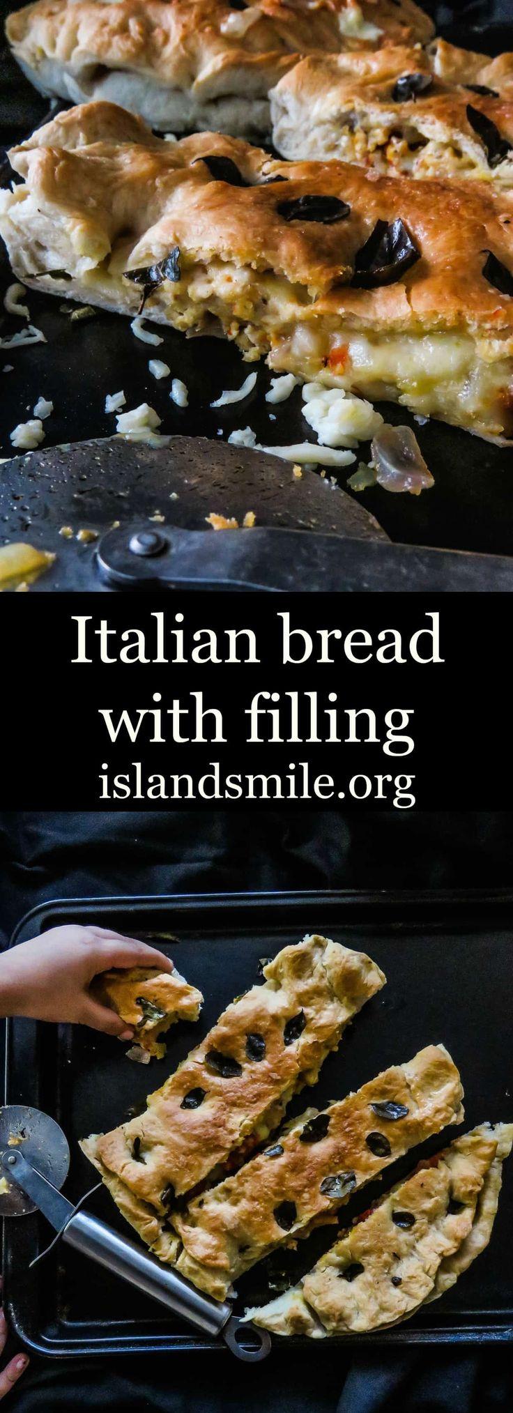 Italian bread with filling (Foccacia Farcita) | Island smile