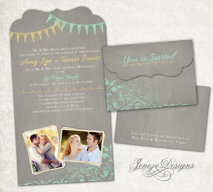 bed bath and beyond wedding invitation kits%0A Beautiful Photo Wedding Invitation www jeneze com