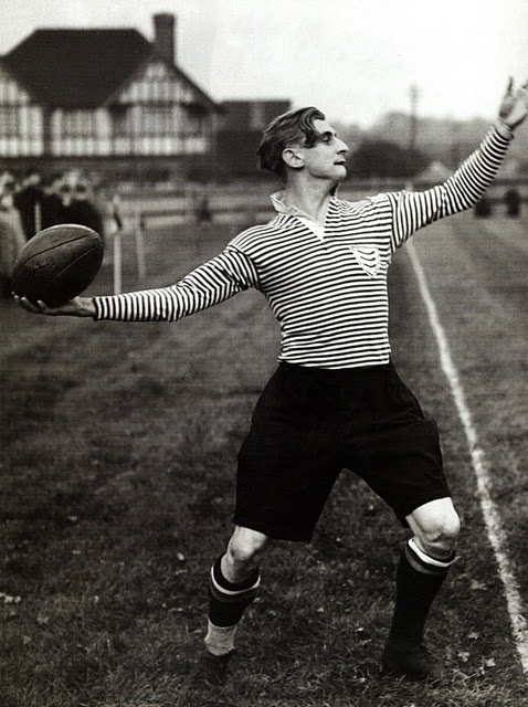 Prince Alexander Obolensky Throws in for Middlesex, Oct. 1938. Photographer unknown.