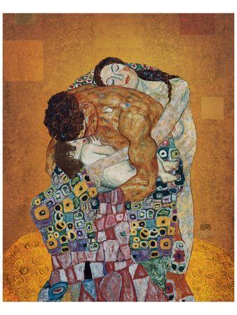 Solo Klimt podía superarse a sí mismo en mi máximo deseo hecho arte. Bye bye The Kiss, I rather take this. The Family- Gustav Klimt