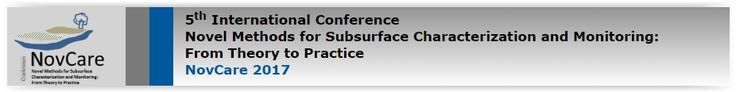 #geocongress  NovCare 2017 — Novel Methods for Subsurface Characterization and Monitoring: From Theory to Practice. Dresden, Germany. 06 Jun 2017 - 09 Jun 2017. The NovCare 2017 International Conference (Novel Methods for Subsurface Characterization and Monitoring: From Theory to Practice) will take place June 6-9, 2017 at the main campus of the Technische Universität Dresden (TU Dresden) in Dresden...