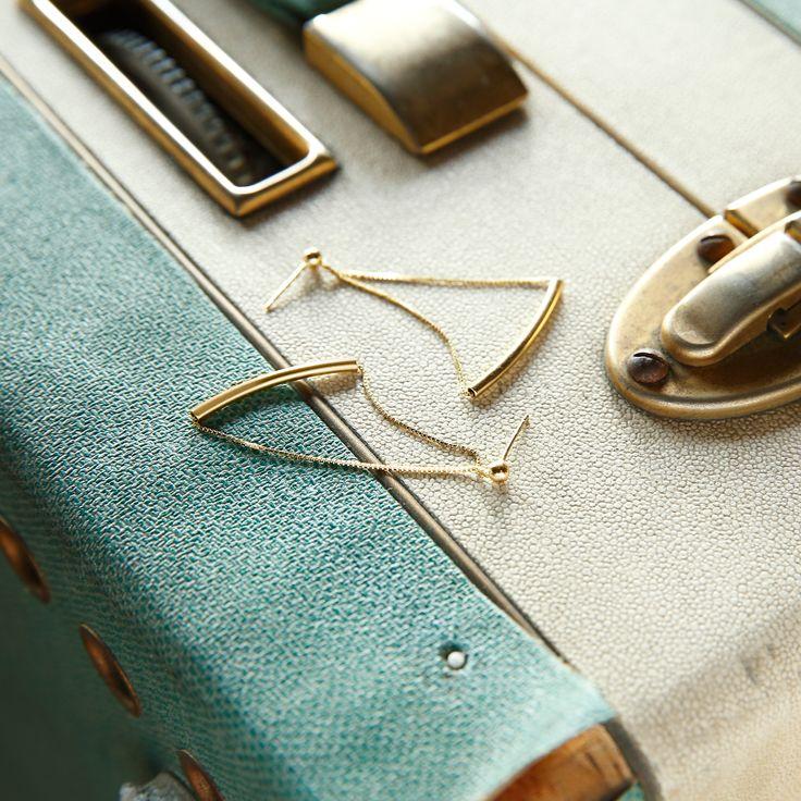 #BOUCLES D'OREILLES : pendants en Or jaune 375. #BIJOUX #MATY