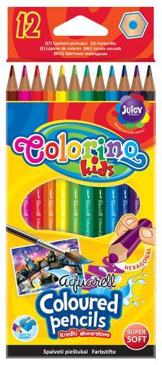 Creioane color Patio aquarell, 12/set + pensula Instrumente de scris si accesorii - Papetarie.ro