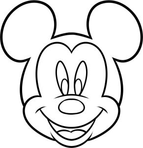 how to draw mickey mouse for kids step 7