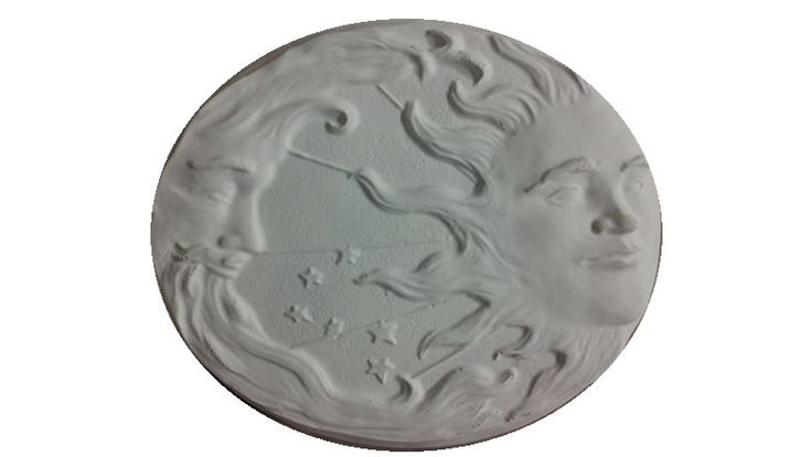 Concrete Sun & Moon Stepping Stone