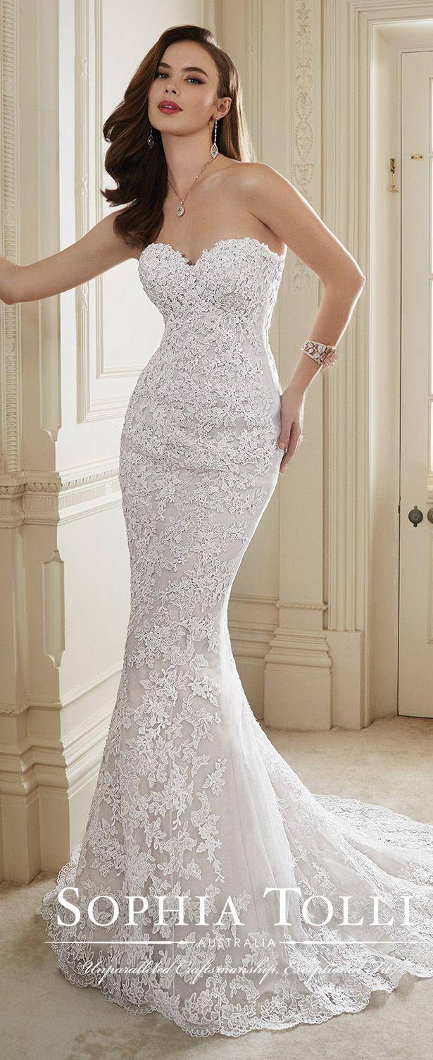 Sophia Tolli Spring 2016 Wedding Dress #vestidodenovia | #trajesdenovio | vestidos de novia para gorditas | vestidos de novia cortos http://amzn.to/29aGZWo
