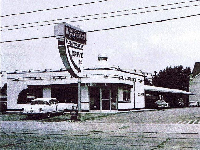 The Krystal Restaurant on Madison in the mid 1950s, in Memphis, West Tenn.