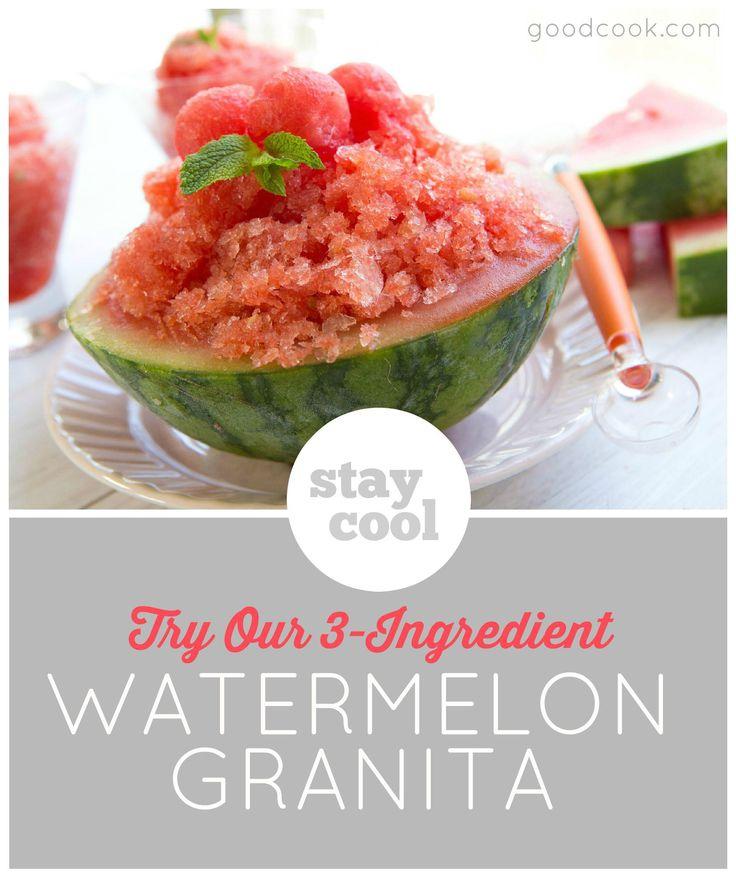 ... Food on Pinterest | Freezers, Watermelon granita and Watermelon bowl