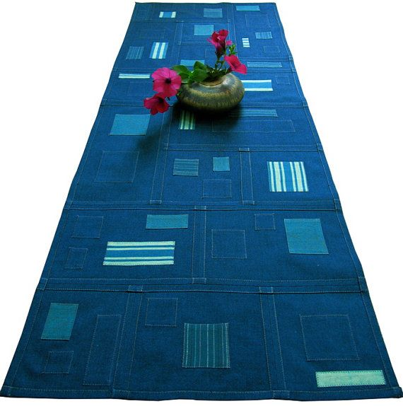 Korean Quilts Pojagi   Pojagi Patchwork Table Runner - Reversible, Textile Art