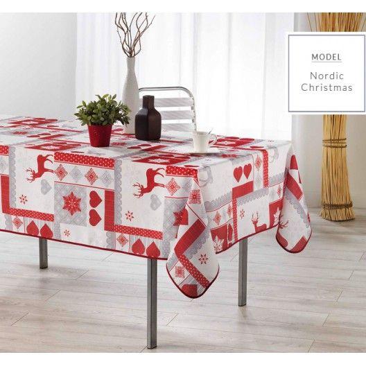 Vánoční ubrus na kuchyňský stůl bílé barvy
