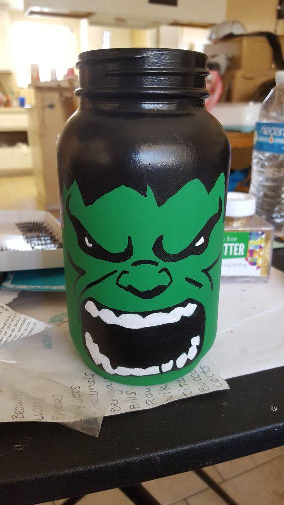 Hucha de Hulk increíble por AmysCreationsCrafts en Etsy
