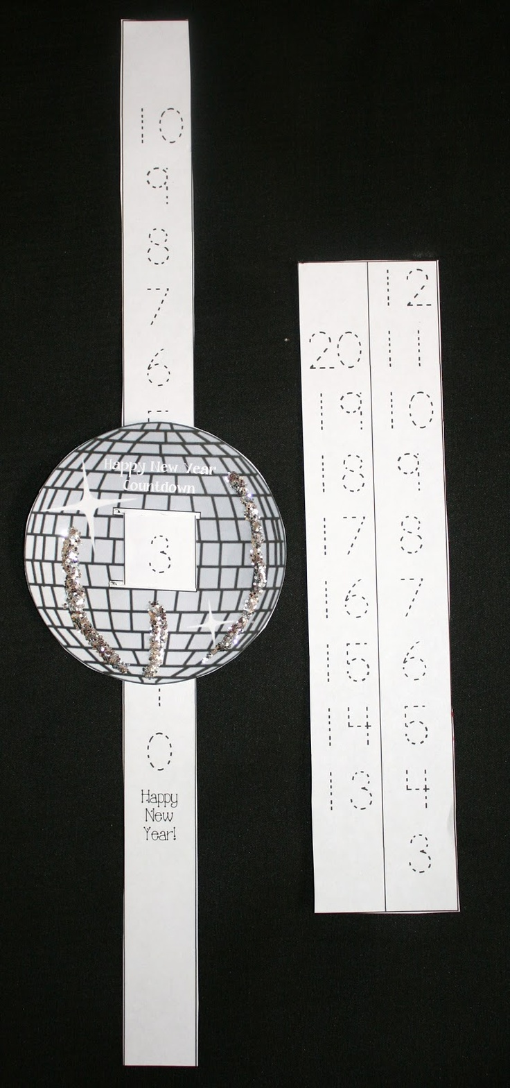 Classroom Freebies: Happy New Year Countdown Glitter Ball FREE