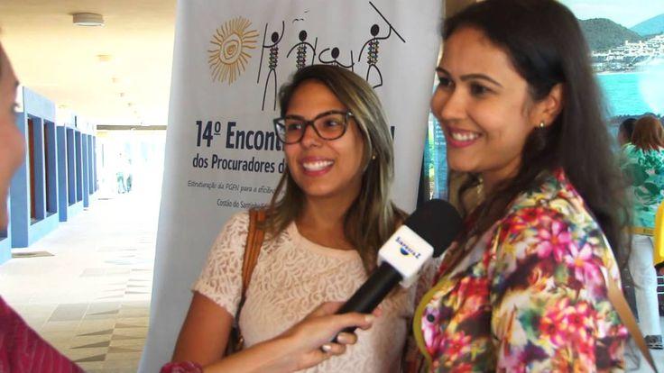 Entrevista com as Procuradoras da Fazenda Iara Dias e Marcela Tavares, na chegada ao Costão do Santinho para o 14º Encontro dos PFNs