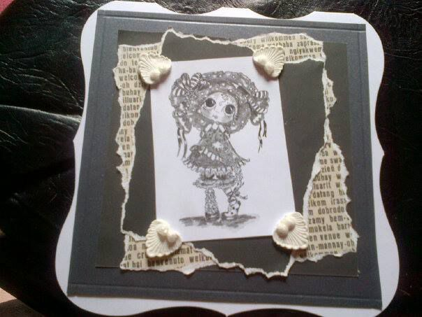 I love these stamps bySherri -Baldy. Made by JuliAnn