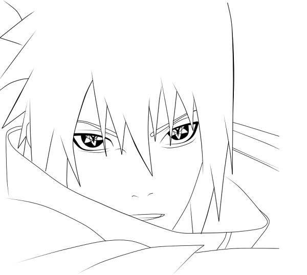 sasuke uchiha coloring pages - photo#14