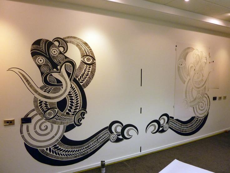 maori inspired , by pakeha artist hayley king aka flox