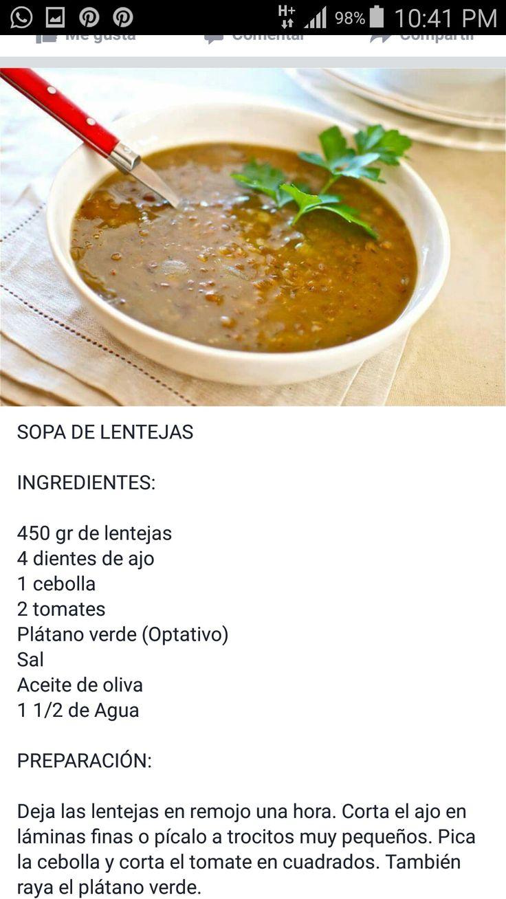 SOPA LENTEJAS