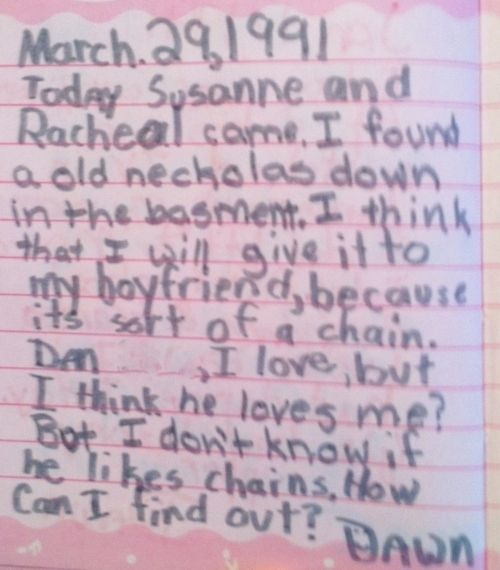 This is me - er, was me. ||  This Girl's Diary From The '90s Is Wonderfully Embarrassing