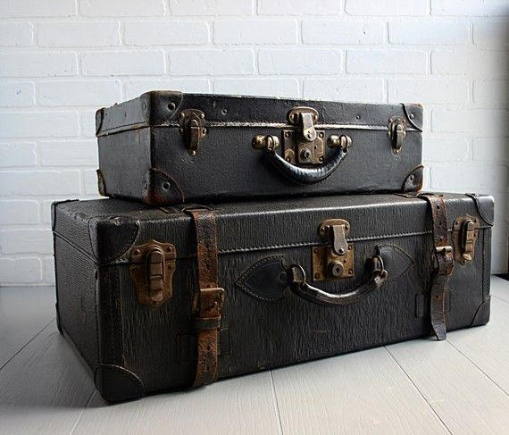 Etsy Transaction - Pair of Vintage Back Suitcases ($100-200) - Svpply