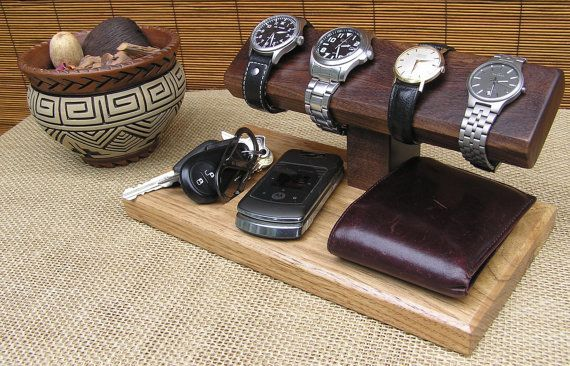 Watch Stand Mens Valet Watch Display by OnondagaHillWoodwork