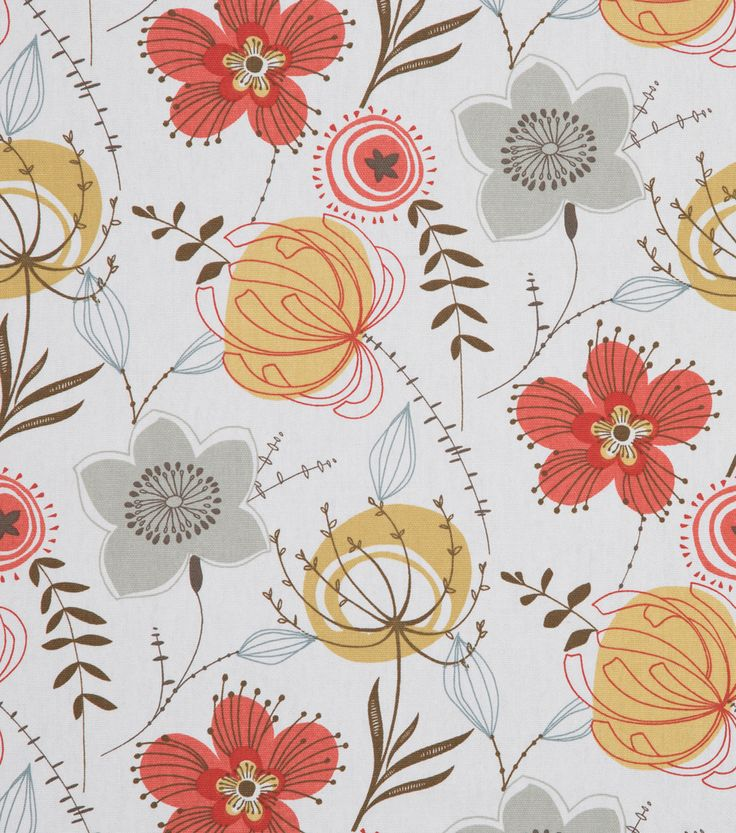 "SMC Designs 45"" Home Essentials Fabric-Olenska Panorama Spiceberry"