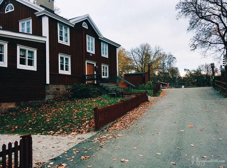 Les maisons typiquement suédoises à Skansen