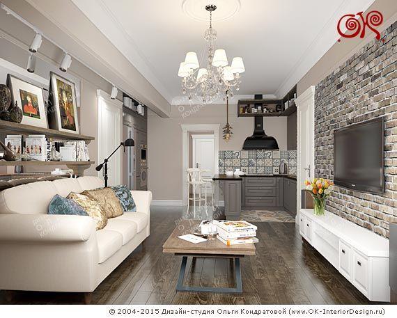 Дизайн кухни-гостиной  http://www.ok-interiordesign.ru/blog/perenos-kuhni-v-koridor-soglasovanie-foto-2015.html