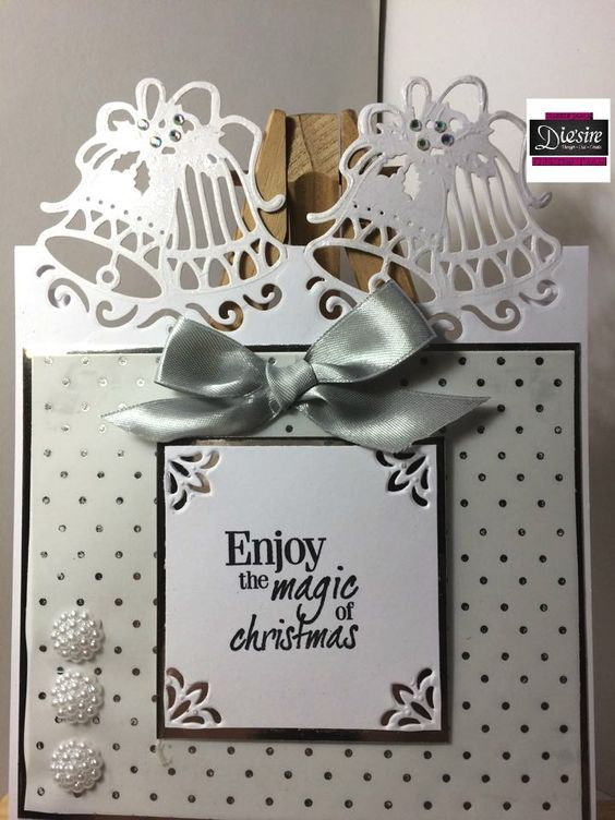 6x6 card made using Crafter's Companion Die'sire Bells of Joy Christmas Edge'ables die.Designed by Debbie James #crafterscompanion