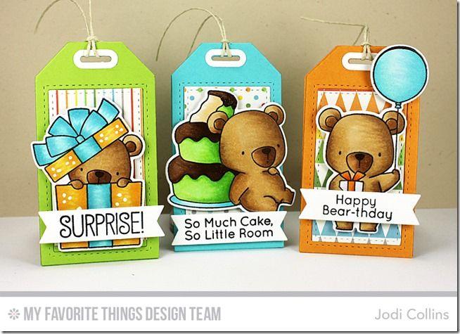 Tag Builder Blueprints 5 Die-namics, Beary Special Birthday Stamp Set and Die-namics - Jodi Collins  #mftstamps