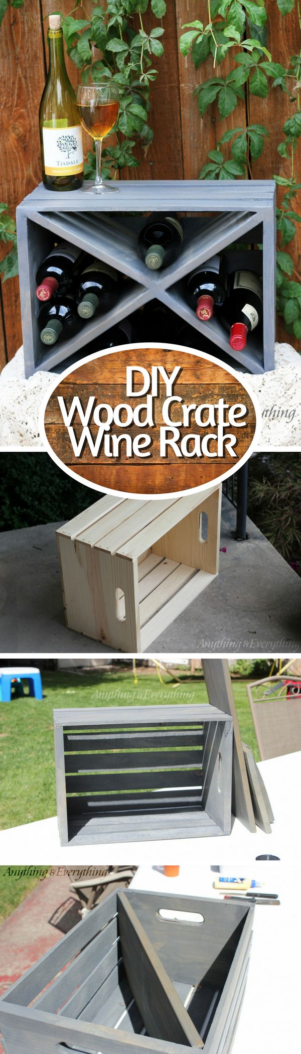 Check out how to make an easy DIY wine rack from a wood crate @istandarddesign