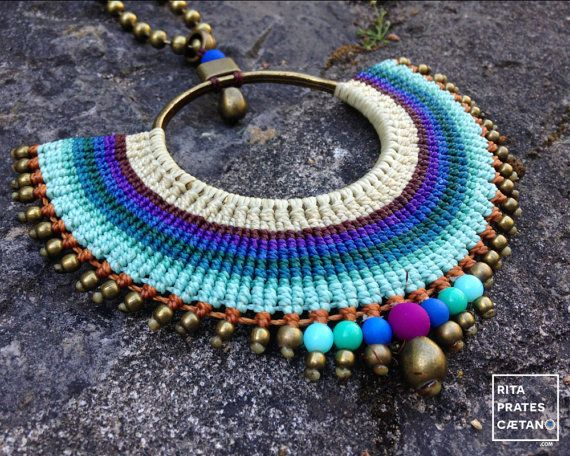 MAR . Big Macrame adjustable statement by RitaPratesCaetano