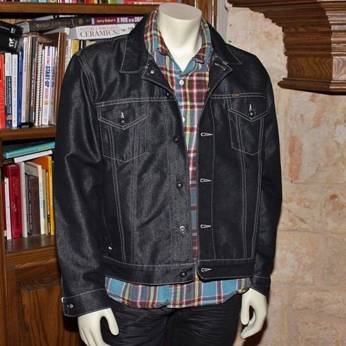 Men&39s Ralph Lauren Black Jean Jacket Black Shiny Denim Polo Jean