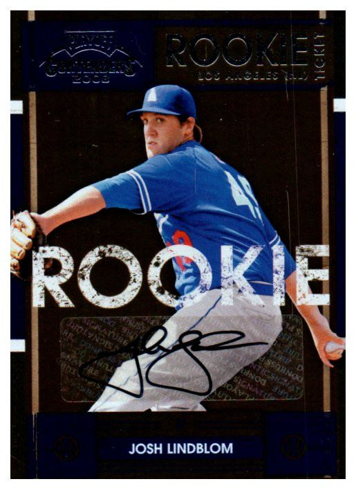 2008 Playoff Contenders Josh Lindblom Rookie Ticket Autograph Card Dodgers