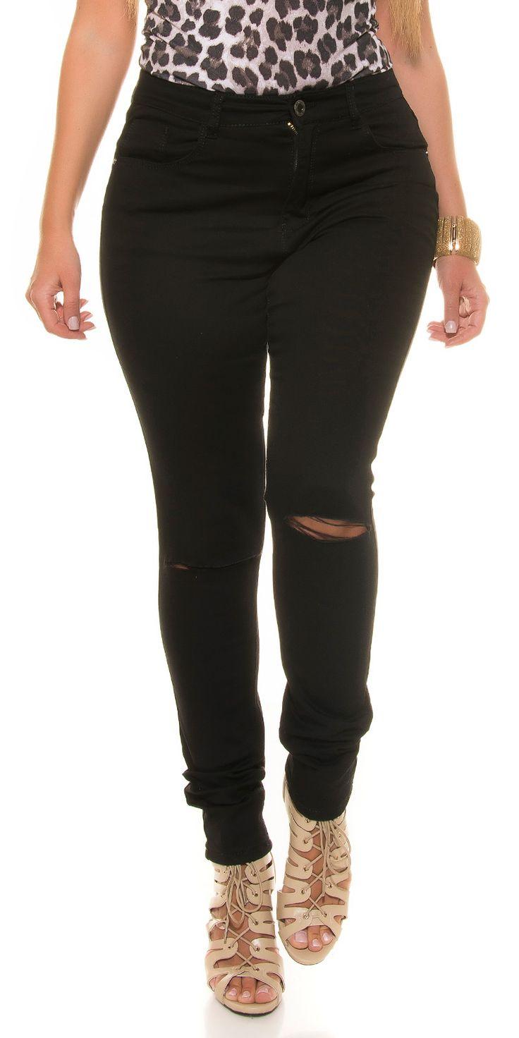 Jeans elasticizzato a gamba stretta.  Taglia 52.  https://www.lorcastyle.it