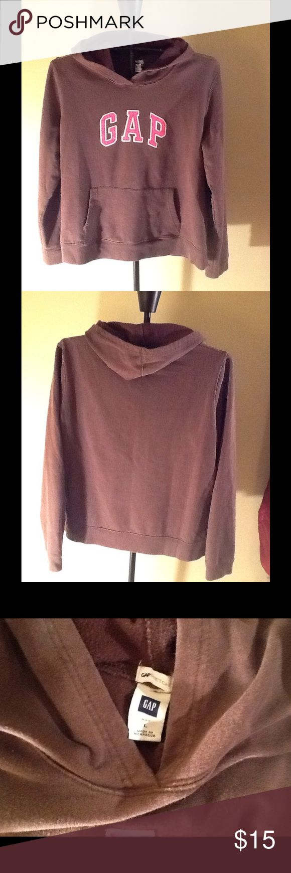 GAP Ladies Hoodie GAP Ladies Hoodie. Pink & brown. Size L. GAP Tops Sweatshirts & Hoodies