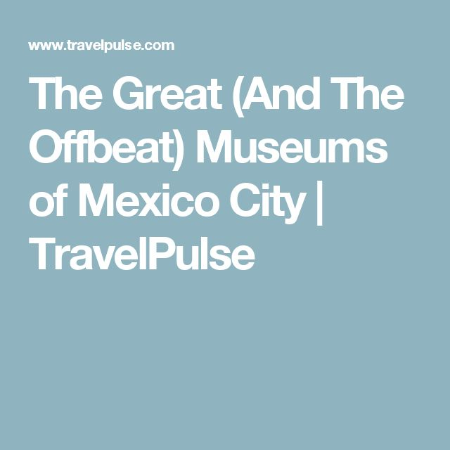 The Great (And The Offbeat) Museums of Mexico City   TravelPulse