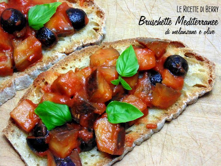 Bruschette alle Melanzane e Olive