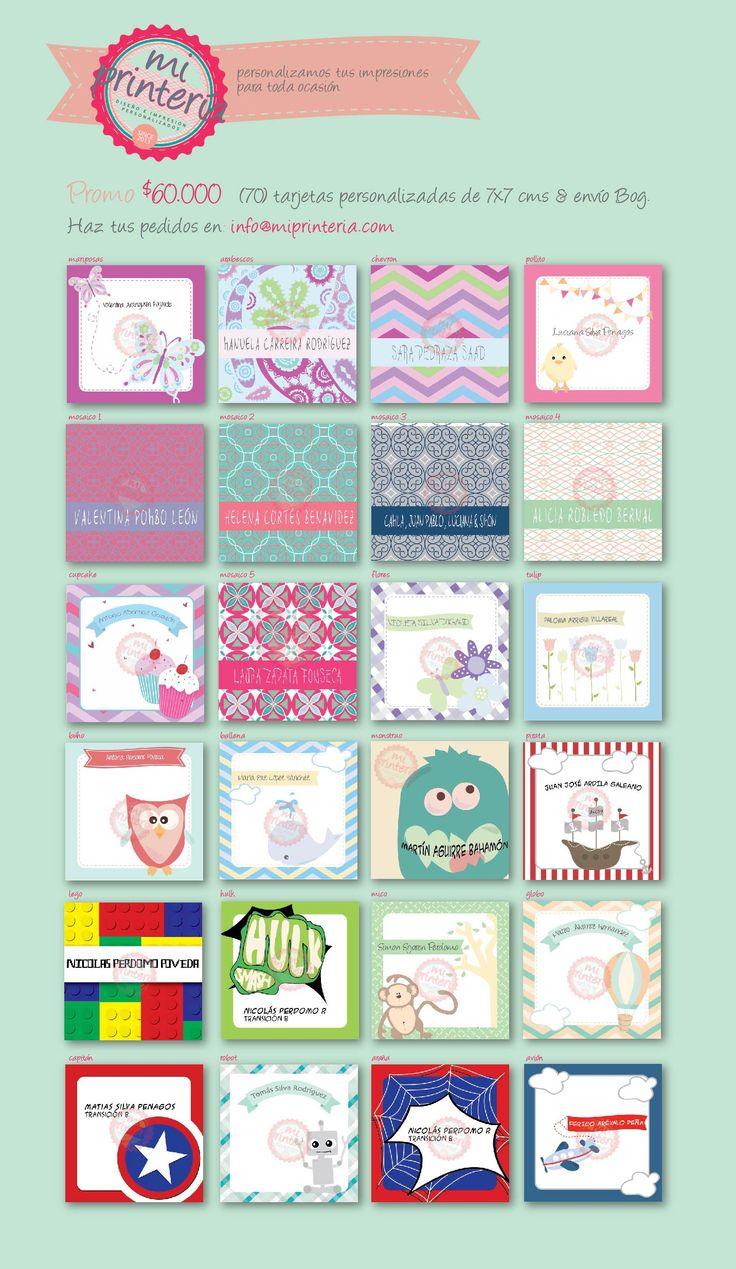 Personalizamos sus impresiones para cada ocasión! info@miprinteria.com #miprinteria #tarjetas #personalizadas