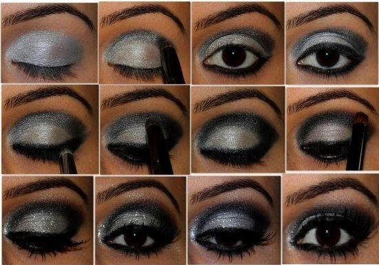 maquiagem tutorial festa pele negra azul - Google Search