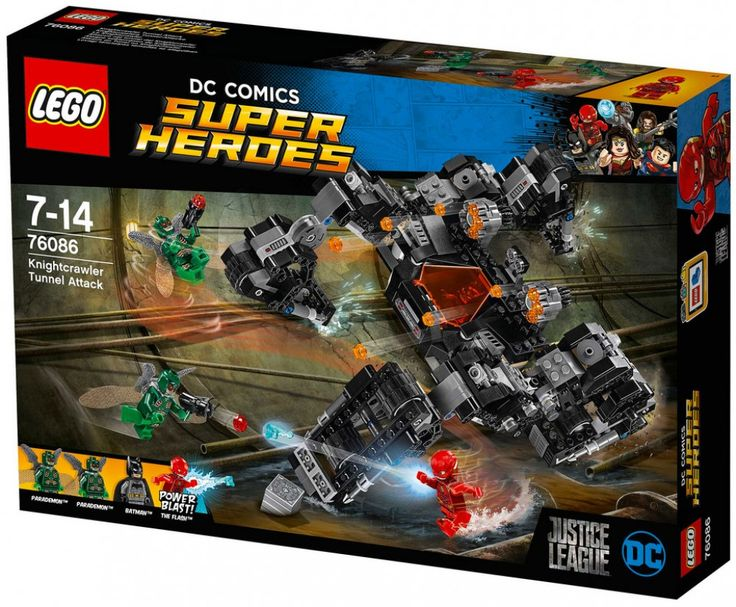 LEGO DC Comics Super Heroes 76086 : Knightcrawler Tunnel Attack - Août 2017