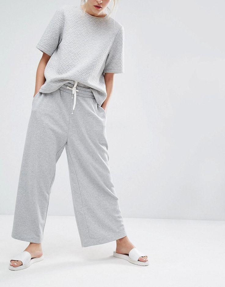 Image 4 of Monki Wide Leg Lounge Pant