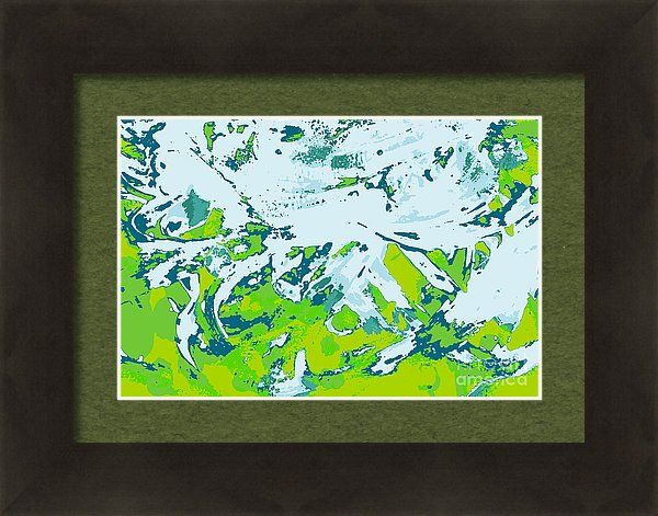 Water Framed Print featuring the painting Portolan by Sverre Andreas Fekjan